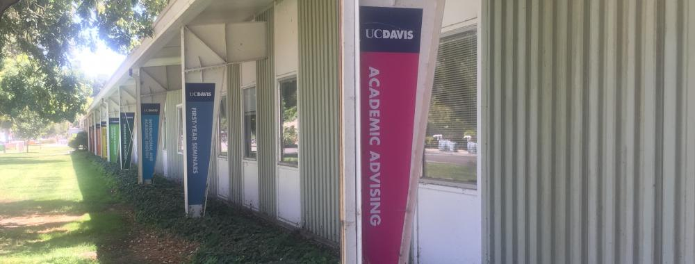 The Grove office Academic Advising signage outside.