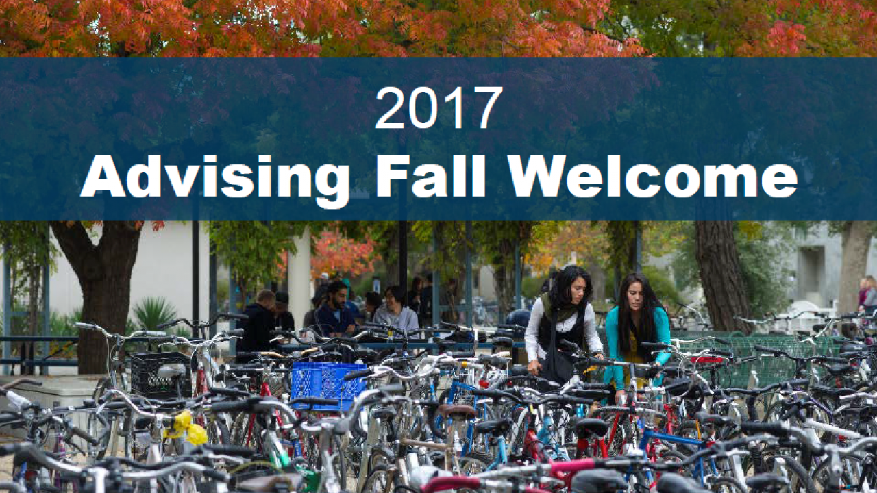 2017 Fall Welcome (slides)